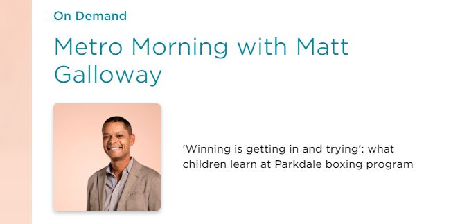 Image cover for Metro Morning with Matt Galloway.